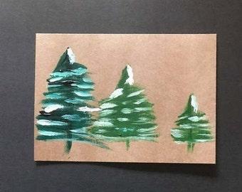 3 Wintery Trees