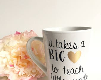 Teacher mug- new teacher mug- teacher gift- gift for a new teacher- teacher appreciation mug - coffee mug- mug for teacher- end of year mug