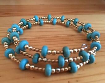 Beautiful memory wire bracelet