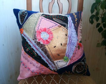 Patchwork Pillow, Decorative Pillows, Home Decor, Handmade,Sofa Decoration,Living Room Decoration,Gifts, Home Furnishing,Hotel Decoration