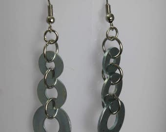 Washer Trio Dangle and Drop Earrings Upcycled Nickel Free