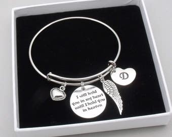 I will hold you in my heart until I hold you in heaven | bereavement bracelet | sympathy gift | memorial bracelet | remembrance jewelry