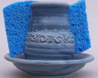"Sponge Holder in ""Stonewash Blue"""