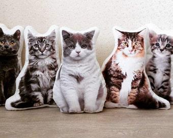 Plush pillow. Home Decor. Cat Lover Gift. Cat Pillow. Cat Print. Custom plush. Animal pillow. Pet lover. Meow. Kittycat. Kitty pillow.