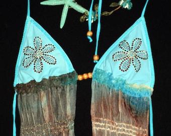 Sweet mermaid inspired coachella/festival top