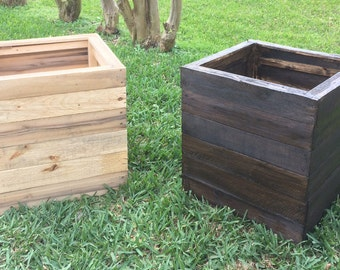 Custom Reclaimed Wood Planter Boxes
