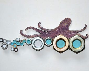 Octopus, wall decoration, different, design, decoration-nuts