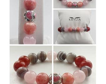 "Bracelet ""Love is in the air"" From natural stones."