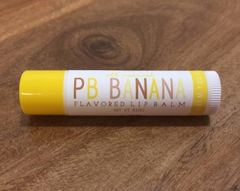PEANUT BUTTER BANANA Lip Balm - All Natural - Homemade