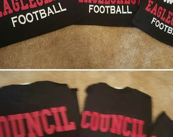 Personalized School Spirit Football t-shirts
