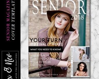 Modern Senior Magazine Cover Template