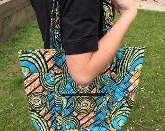 Large Handmade Quilted Tote Shoulder Bag