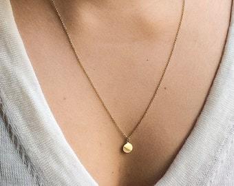 Shiny pendant necklace | 14k gold filled