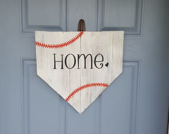 HOME PLATE WOODEN wall/door sign.  Baseball is Life!