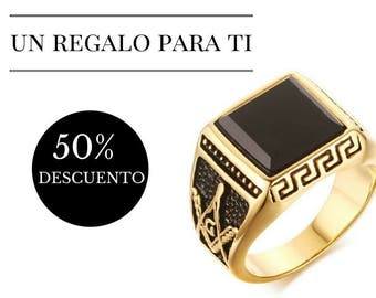 Ring - smart - embossed side - free shipping - offer 50% discount