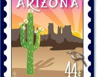 Mini Postage Stamp Panel - Arizona
