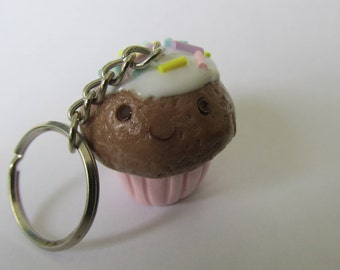 Kawaii Cupcake Keychain Charm