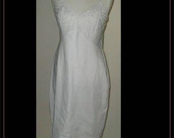 Vintage White Montgomery Wards Cotton Slip/Dress Size 16/38/Tall