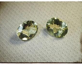 Pair of yellow quartz - 4.65 cts