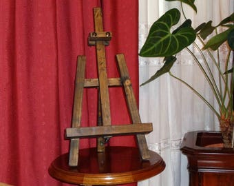 Painter Kicovi table trestle triangular color vintage colonial Walnut