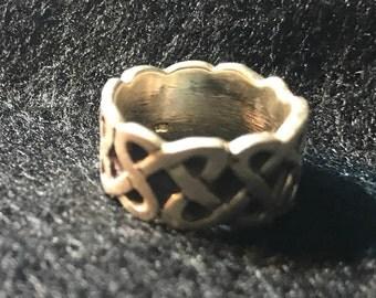 Sterling .925 celtic weave pattern ring