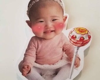 Customized Magnetic Photo Board/ Personalized Refrigerator Magnet/ Baby Magnet/ Face Magnet