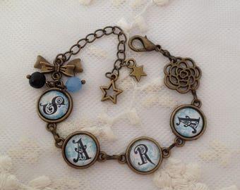 'Name' cameo bracelet