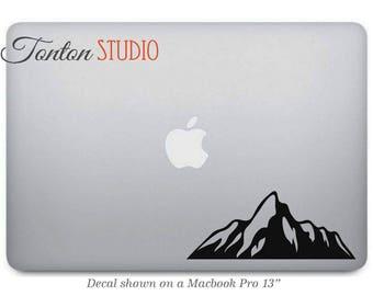 Mountain Range Macbook Decal / Mountain Range Macbook Sticker / Mountain Laptop Decal / Hills Notebook Removable Vinyl Sticker Skin - G064