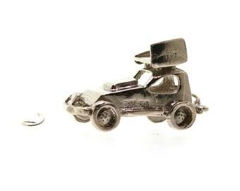 Car Traditional Silver Charm