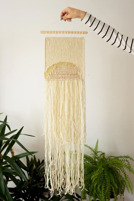 Avocado | Elderberry | Goldenrod | Handwoven wall hanging made of plant dyed yarns