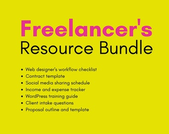 Freelancer Resource Bundle Download (for web designers, graphic designers, and everything in between)
