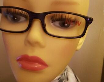 Ladies Glam Swarovski adorned reading/optical glasses - Purple Oak
