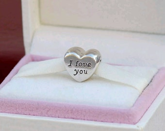 Authentic Pandora Words of Love 'I Love You' Charm/ New/ Ale/s925