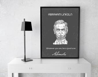 Abraham Lincoln Quote and Signature, Inspirational,Motivational Quote, Lincoln Signature, Home Decor, Office Decor