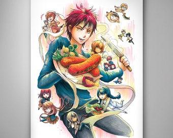 Food Wars - Soma Yukihira// Art Print// Illustration