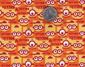 Minions orange coordinating fat quarter
