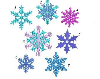 Frozen Snowflake Embroidery Design - 6 designs machine embroidery INSTANT DOWNLOAD