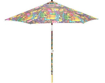 Electric Beach Umbrella that It settler in the Sand with a Click ! Model Goloso