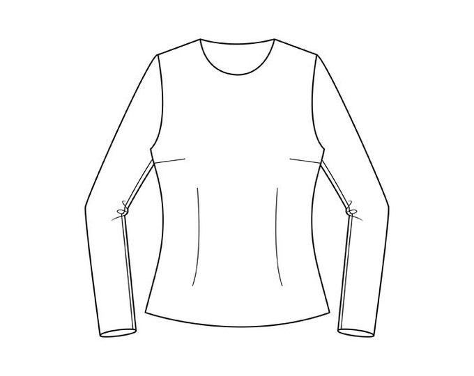 Featured listing image: Basic Bodice to Hip Block Pattern (with semi-fitted sleeve)  Sizes 8-22 - Download PDF