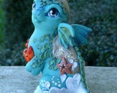 Ocean Shore Dragon - RESERVED FOR CUSTOMER - Myxie Dragon Pal Sculpture Commission