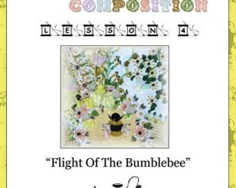 Crazy Quilt Block Pattern Flight Of The Bumblebee by Pamela Kellogg