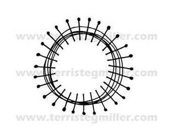 Thermofax Screen - Circle Motif 13