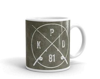 Personalized Fishing Monogram Mug- Mens Personalized Gifts- Personalized Fishing Gifts- Fishing Mug- Coffee Mug- Fishing Gift
