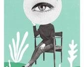 Green eye/ Fine Art Print / Impression papier d'art / A3 A4 A5