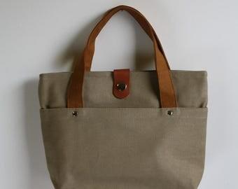 carry bag - sand grain + chestnut