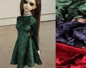 56-60cm BJD Velvet Skater Dress High Lace Collar