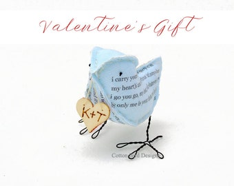 Valentines Gift Cotton Bird I carry your heart with me by Cotton Bird Designs