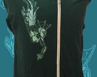 Unisex Zip Hoodie - Robot Mermaid Hooded Sweatshirt - MerDroid Jacket