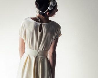 Wedding Top, Velvet top, Silk blouse, Wedding separates, Keyhole top, Simple dress, Reception dress, Casual wedding dress, Winter wedding