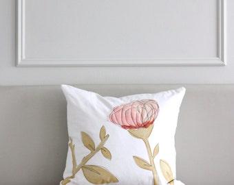 Blush & Coral Cushion Cover